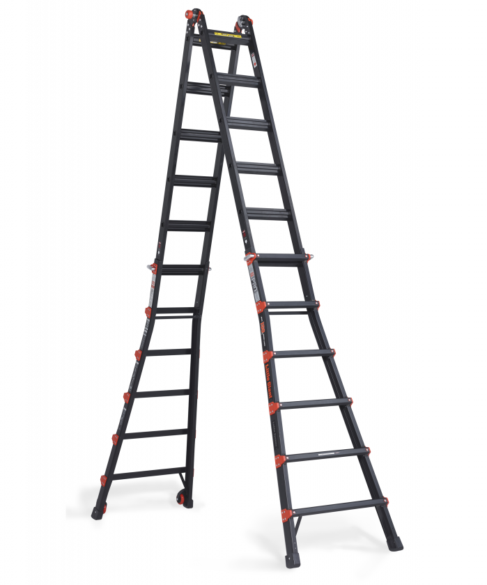 Little Giant Black Pro folding ladder